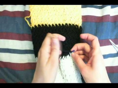 How to Finish. Cast Off a Knit Loom Scarf