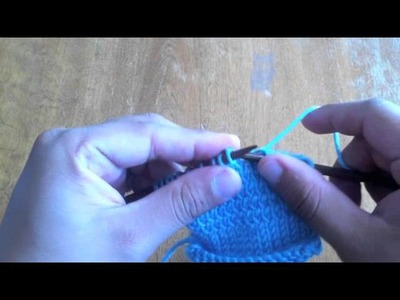 How to Knit Through the Back Loop (tbl)