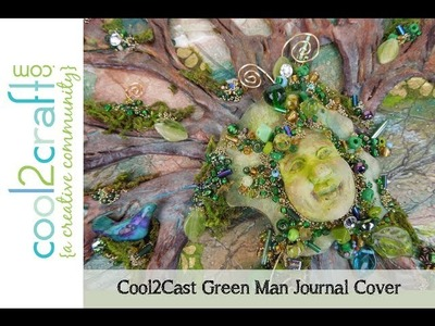 How to Make a Cool2Cast Green Man Journal Cover by EcoHeidi Borchers