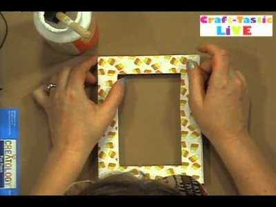 How To Make A  Fun Candy Corn Picture Frame! Andrea Currie Crafts