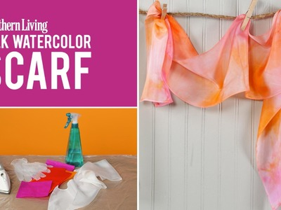 How To Make a Mother's Day Silk Watercolor Scarf