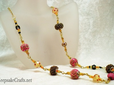 How to Make a Wrapped Loop Necklace with Mixed Beads