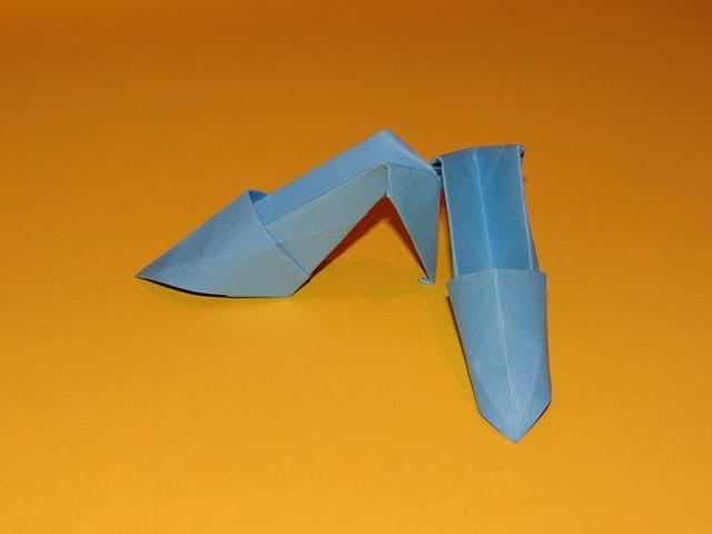How To Make Origami High Heels