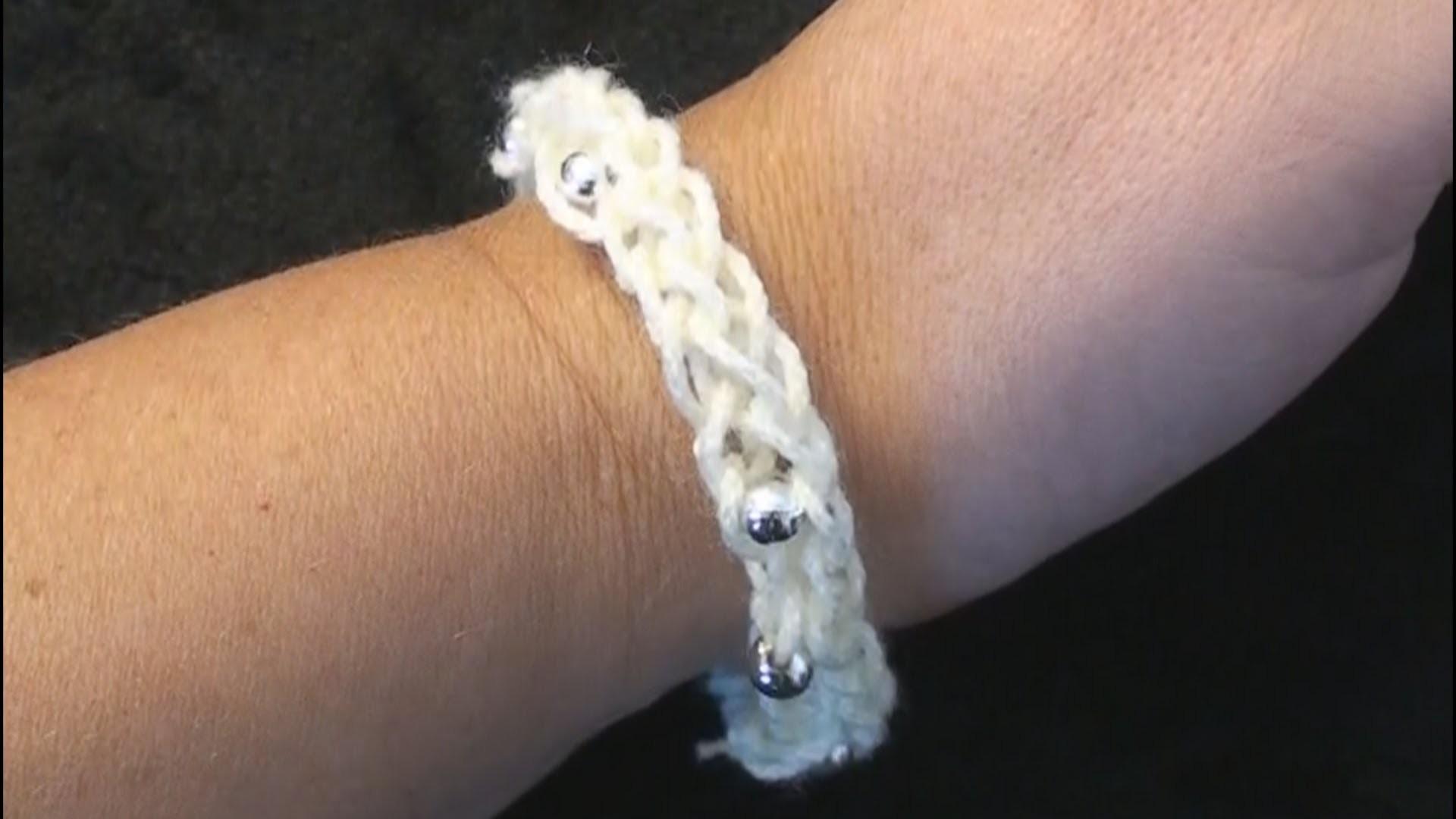 I-Cord Friendship Bracelet Crochet - Left Hand Crochet CrochetGeek