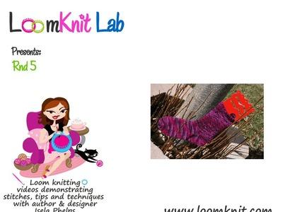Loom Knitting: Double Woven Socks Rnd 5