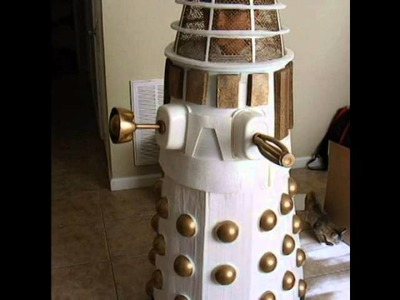 Make Build DIY adult child White Dalek Halloween Comic Con costume