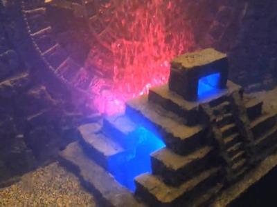 My DIY Custom 3D Mayan Aquarium Background w. Calendar & Pyramid