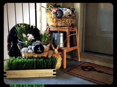 My Outdoor Spring Easter Decor Tour Idea DIY