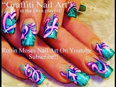 Nail Art Tutorial | DIY Graffiti Nail Art Design Tutorial