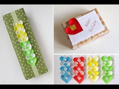 Origami Heart Gift Card and Decorative Chain