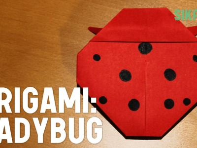 Origami: How to Make a Ladybug