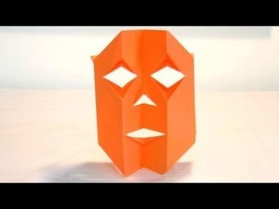 Origami Jack-O-Lantern Mask
