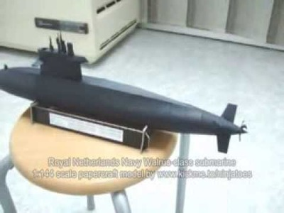 Papercraft Royal Netherlands Navy Walrus class submarine
