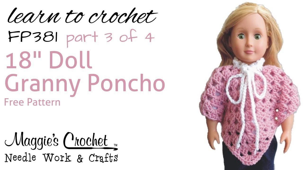 Part 3 of 4 Granny Poncho Right Handed #FP381
