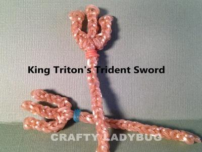 Rainbow Loom TRIDENT-SWORD OF KING TRITON Advanced Charm Tutorial by Crafty Ladybug