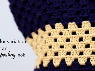 Six Flower Crochet Hand Bag