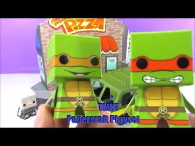 Teenage Mutant Ninja Turles TMNT Papercraft Playset Toys Funko Boxos