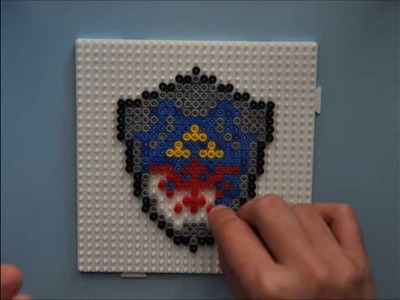 Timelapse Hylian Shield con Hama Beads