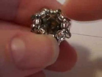Tutorial - Incastonare un chaton da 10mm con Preciosa Twin beads