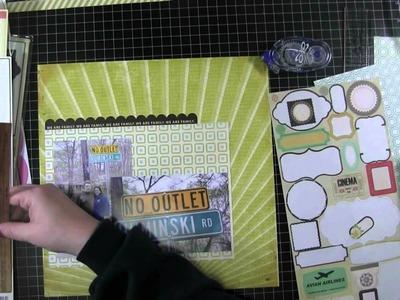 Wednesday Scrapbook Layout, Process Video, The Beginning (Studio Calico, Mar 2013)