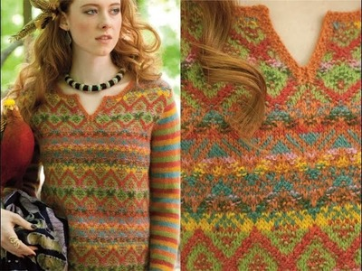 #22 Vibrant Colorwork Pullover, Vogue Knitting Fall 2014