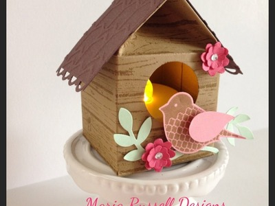 Birdhouse Tea Light Holder~DIY Mini Milk Carton