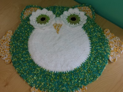 Crocher Owl Area Rug For Baby's Room Part #2