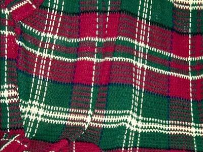 Crochet a tartan blanket ~ How to