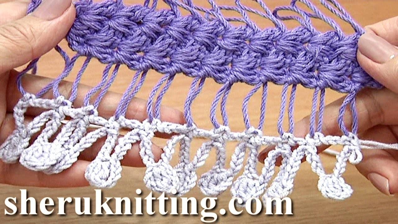 Crochet Fringe On Basic Hairpin Strip Tutorial 32 Developing Basic Strip With Additional Crochet