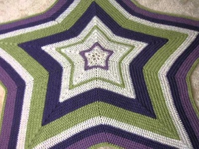 Crochet Star Baby Blanket Free Pattern