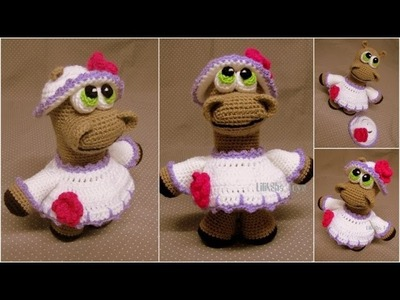 Crochet toy amigurumi - how to embroider the mouth.