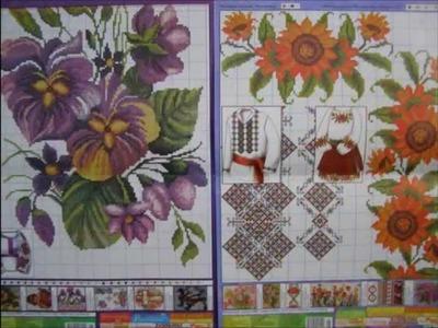 Cross-stitch embroidery in traditional Ukrainian style. Vyshyvanka