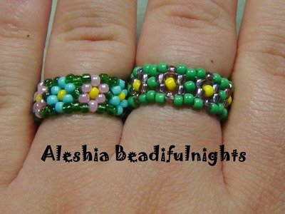Daisy Chain Stitch Beaded Ring Tutorial