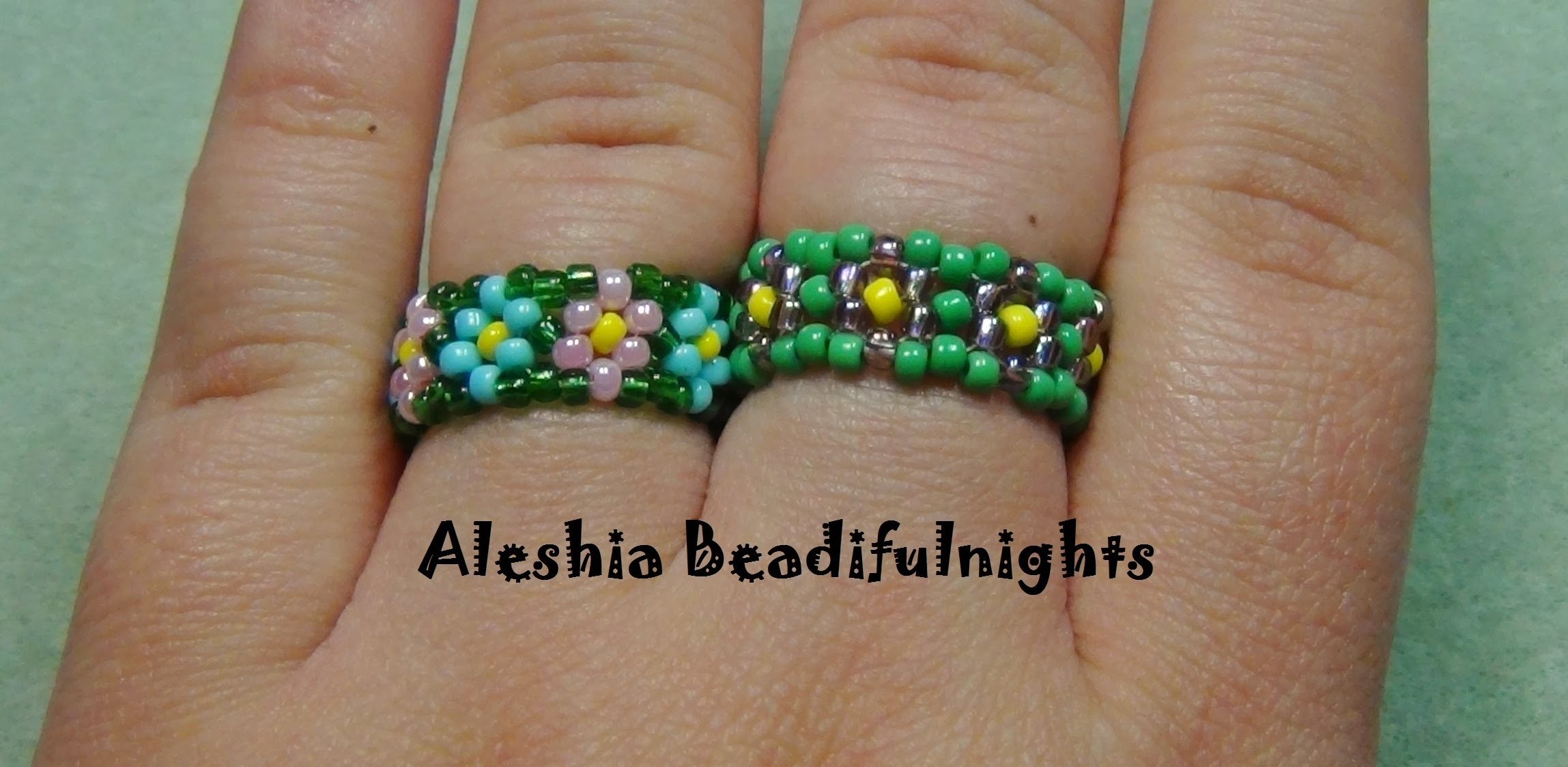 Daisy Chain Stitch Beaded Ring Tutorial