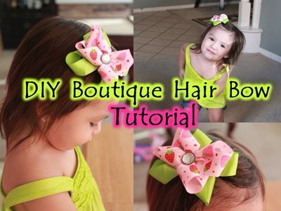 DIY Boutique Hair Bow