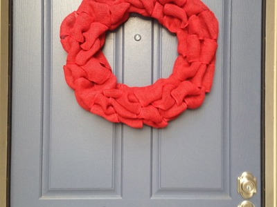 DIY : Burlap Wreath Tutorial : Pinterest Inspired : Star of Paris