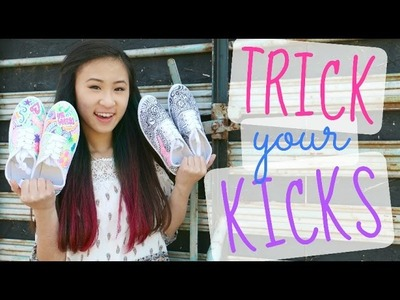 DIY Canvas Sneakers with Fabric Markers | Trick Your Kicks Challenge