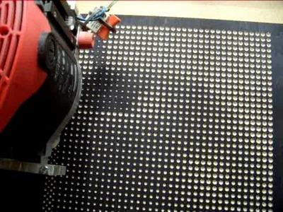 Diy cnc cut halftone pattern