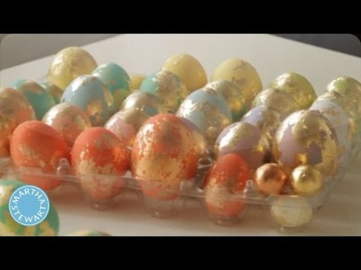 DIY Colorful Foiled Eggs for Easter - Martha Stewart