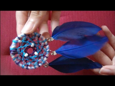 ❤ DIY- Easy & Simple on How To Make Dreamcatcher Earring ( Part 2 ) ❤