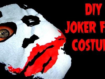 DIY Easy Quick Halloween Costume Joker Face