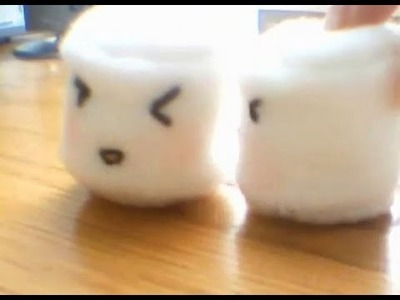 [DIY gift] Marshmallow Plushie Cell.Key Chain