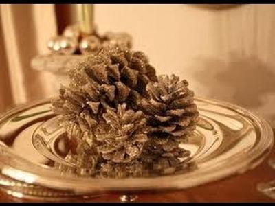 DIY: Glitter Pine-Cone Christmas Ornaments!