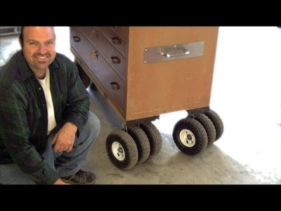 "DIY- How To Make Triple Threat Casters - Pneumatic 10"" wheel- Step by Step-Custom Design"