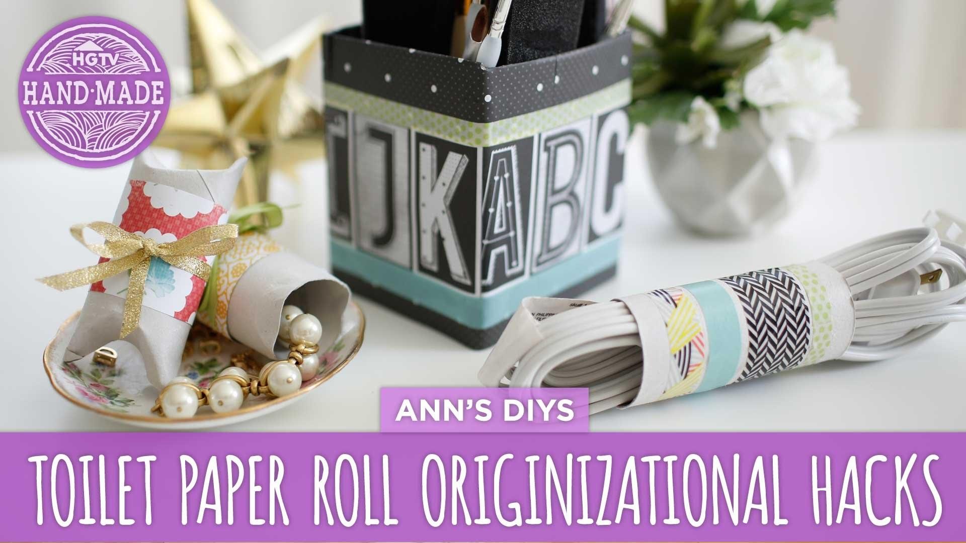 DIY Toilet Paper Roll Organizational Hacks - HGTV Handmade