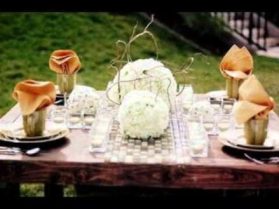 DIY Wedding table runners decorations