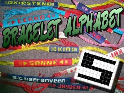 Friendship Bracelet Crochet Yarn, Alphabet: Letter S