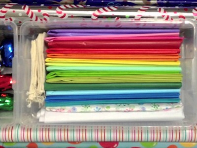 Gift Wrapping Paper Storage - Organization DIY