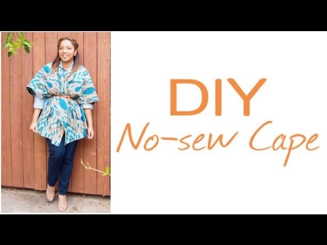 GLITTER 'N GLUE: DIY No Sew Blanket Cape