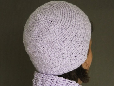 How to crochet a hat - video tutorial with detailed instructions.